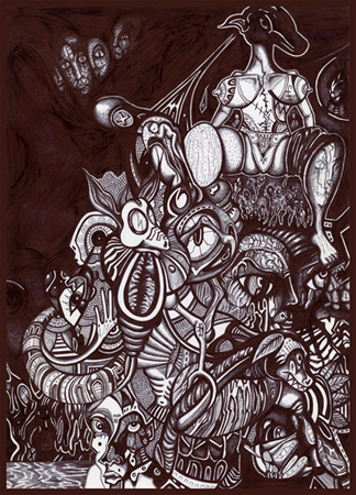 Drawing, 2012, 20x30cm, ball pen
