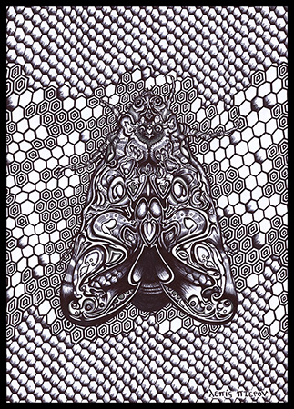 Bicmoth, ball pen, 2014 Athens