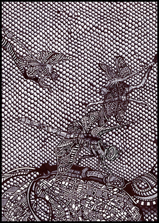 Dragonflies, 2013, 20x30cm, ball pen