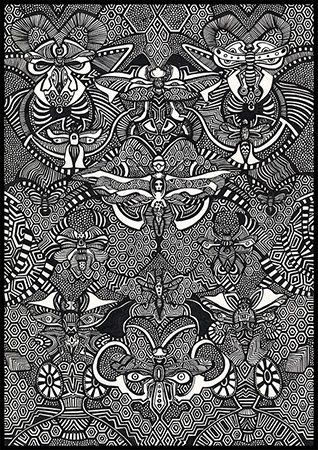 Dragonmasks, Ink 2013